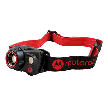 Motorola 580 Lumen Headlamp with Motion Sensing and Adjustable Spot-to-Flood Beam - Red