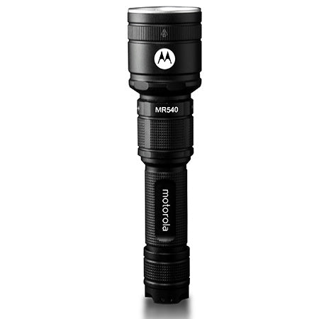 Motorola ReLED 600 Lumen Rechargeable Cree LED Flashlight - Black