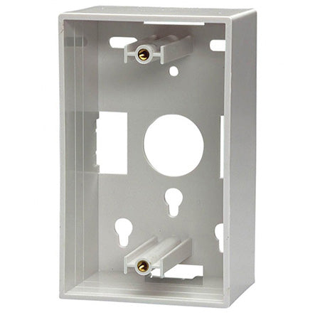 NWT Low Voltage Single Gang Mounting Box - White