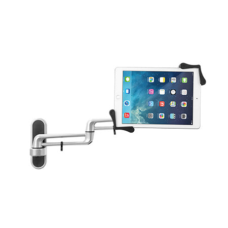 CTA Digital Articulating Tablet Wall Mount for 7-in to 13-in Tablets - Silver