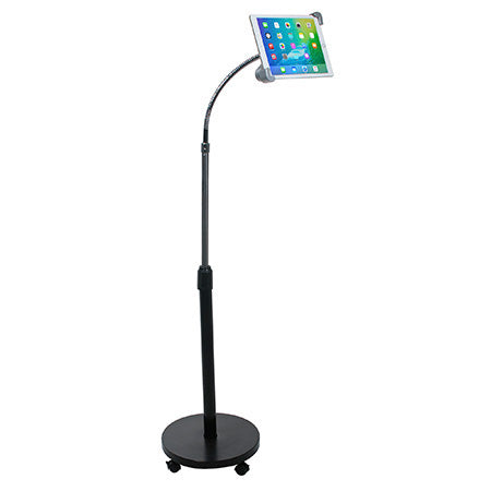 CTA Digital Security Gooseneck Floor Stand for Tablets - Black - Open Box