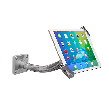 CTA Digital Security Gooseneck Tabletop and Wall Mount for 7-in to 13-in Tablets - Silver