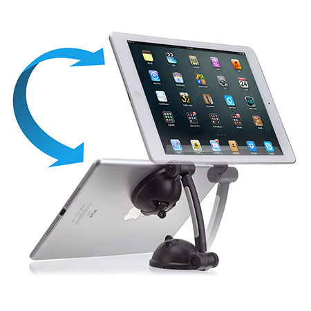 CTA Digital Suction Mount Stand with Theft Deterrent Lock for iPad, Tablets & Smartphones - Black