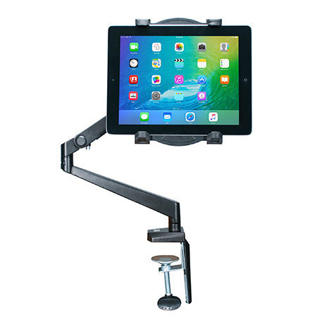 CTA Digital Tabletop Arm Mount for Tablets - Black - Open Box