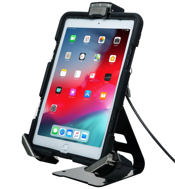 "CTA 2-in-1 Tri-Grip Tablet Security Clasp with Quick-Connect Base and VESA Mount for 7"" - 13"" Tablets"