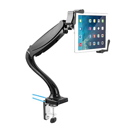CTA Digital Tablet Mount and USB Hub - Black