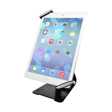 CTA Digital Universal Anti-Theft Security Grip with Stand for iPad & Tablets - Black