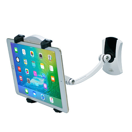 CTA Digital Multi-Function Mount for Tablet with Two Mounting Bases - White