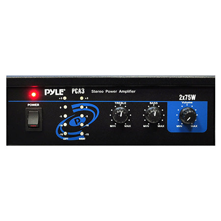 Pyle Compact Stereo Speaker Control and Amplifier System - 150-watt
