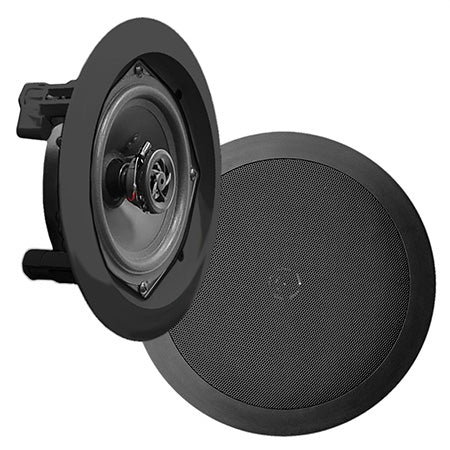 Pyle Pro 8-in 2-Way In-Ceiling Speaker System - Pair - Black