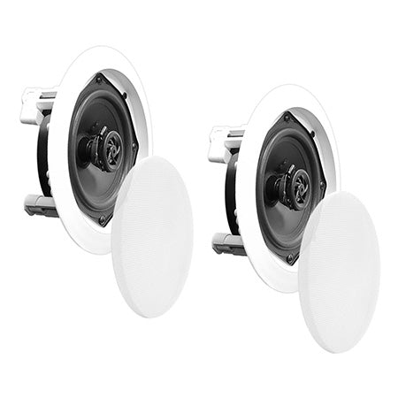 Pyle Home 8-in 2-Way In-Ceiling Speaker System - Pair - White