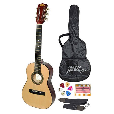 Pyle Beginners 6-String Acoustic Guitar with Accessory Kit - Wood