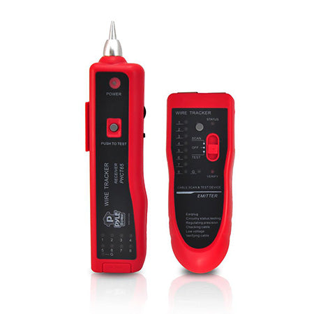 Pyle Meters LAN/Ethernet/Telephone Cable Tracker & Tester - Red