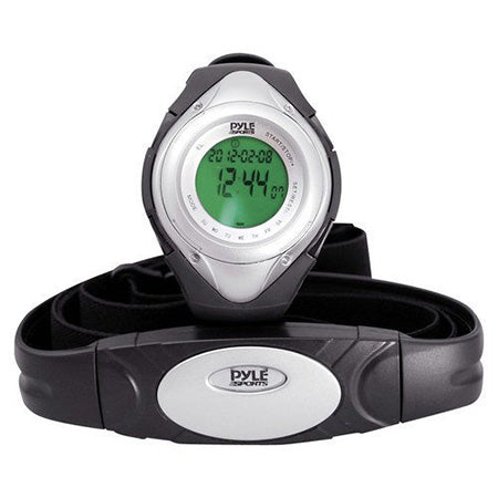 Pyle Heart Rate Monitor Watch - Silver