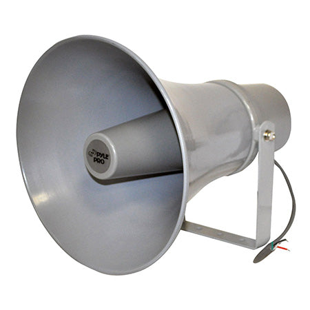 Pyle 28-cm (11-in) 30-watt Indoor/Outdoor PA Horn Speaker with 70-volt Transformer - Single - Grey