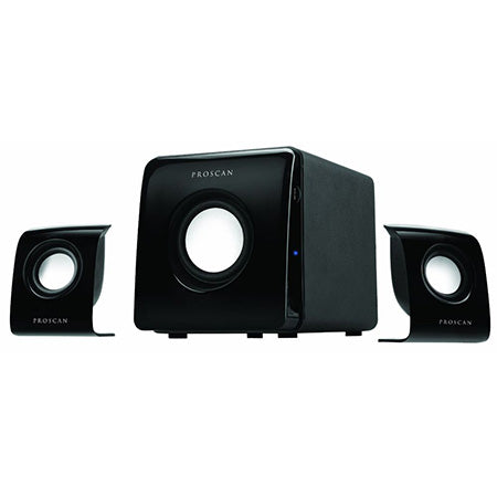 Proscan 2.1-channel Multimedia Speaker System - Black