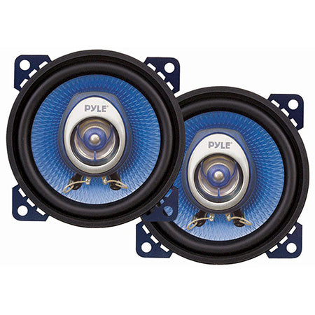 Pyle 4-in 180-watts Two-Way Automotive Speakers - Pair - Blue