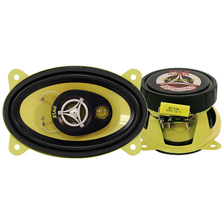 Pyle 10-cm (4-in) x 15-cm (6-in) 3-Way 180-watt Speaker - Pair - Yellow