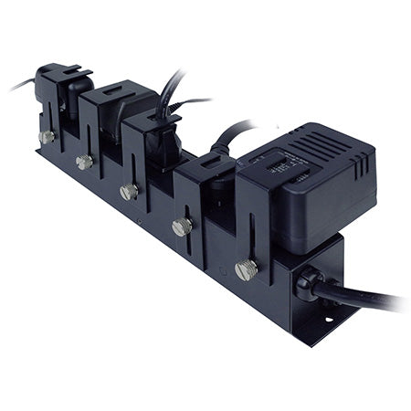 Furman Circuit-Breaker Protected Locking Outlet 15-amp 5 AC Outlet Strip - Black Steel