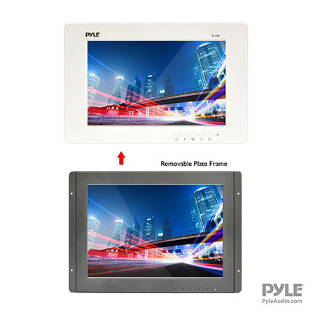Pyle 9-in Flat Panel LCD TV Monitor Display Screen with Universal In-Wall Mount