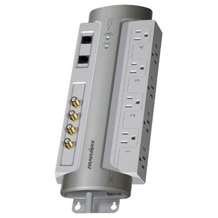 Panamax PowerMax 8 Outlet Surge Protector with Coaxial and Telephone Protection - Grey