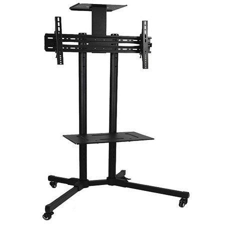 Prime Mounts Portable Floor Stand with Tilting TV Mount 32-in to 65-in - Black