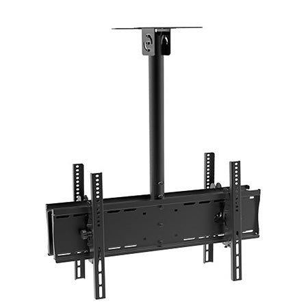 Prime Mounts Articulating Dual TV Ceiling Mount 32-in to 65-in - Black