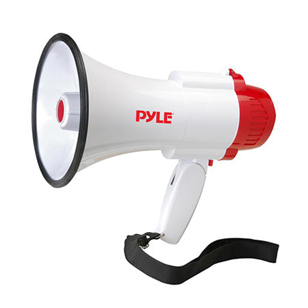 Pyle Compact Megaphone/Bullhorn with Siren Alert, 10-second Memory Playback Record Mode and Adjustable Volume Control