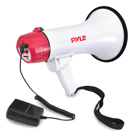 Pyle 40-watt Megaphone/Bullhorn with Wired Handheld Mic, Siren and Adjustable Volume