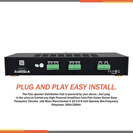 Pyle 4-channel High Power Stereo Speaker Selector Switch with Volume Control