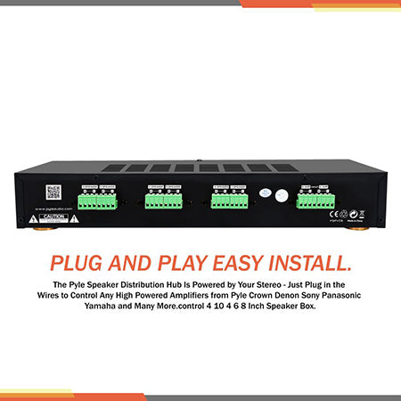 Pyle 6-channel High Power Stereo Speaker Selector Switch with Volume Control