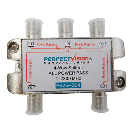 Perfect Vision 4-Way All Port Pass 2-2300-MHz Splitter