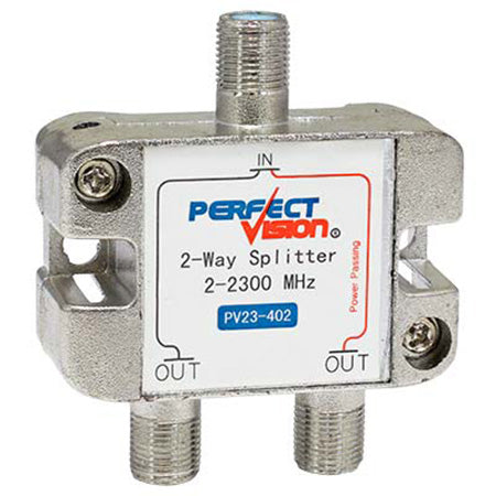Perfect Vision Splitter, 2-Way 1 Port PP 2-2300 MHz