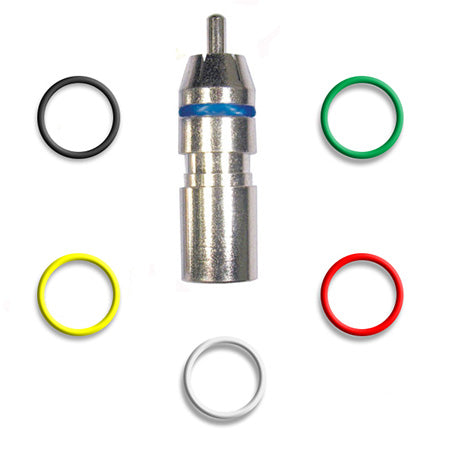RCA Mini Coax Compression Connector with Colour Rings - Single