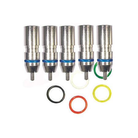 RCA Mini Coax Compression Connector with Colour Rings - 100-pack