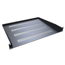 Hammond 1U Vented 30.4-cm (12-in) Deep Rack Shelf - Black