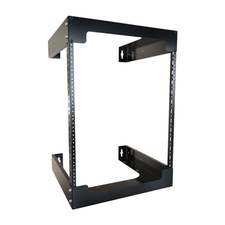 Hammond 12U 0.7-meter (28-in) Fixed Wall Rack - Black