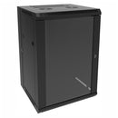 Hammond 18U 0.8-meter (35-in) Swing-Out Wall Mount Cabinet - Black