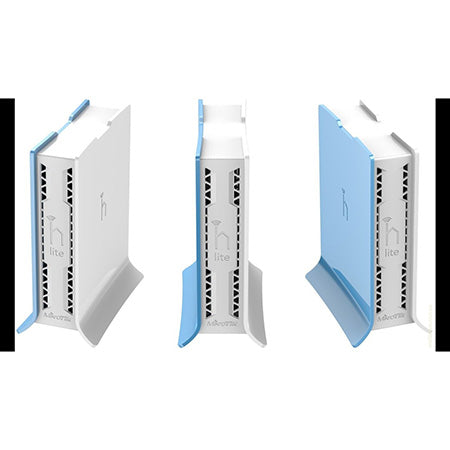 MikroTik hAP lite TC 2.4-GHz 4-port Fast Ethernet Indoor Access Point Tower Case with Built-in 1.5-dBi Antenna