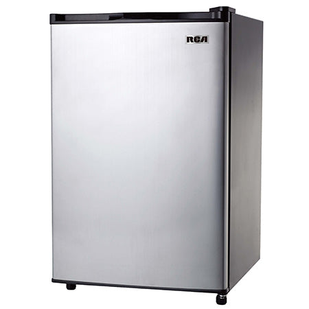 RCA 3.2-cu ft Compact Mini Fridge - Stainless Steel