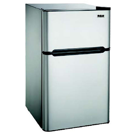 RCA 4.5-cu ft Compact 2-Door Fridge/Freezer Combination - Stainless Steel