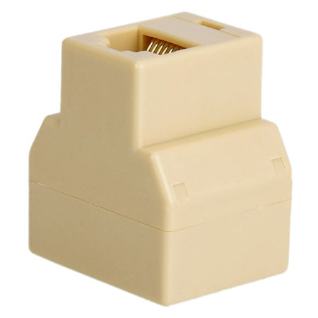 RJ45 1 x 2 Ethernet Connector Splitter - Single - Neutral