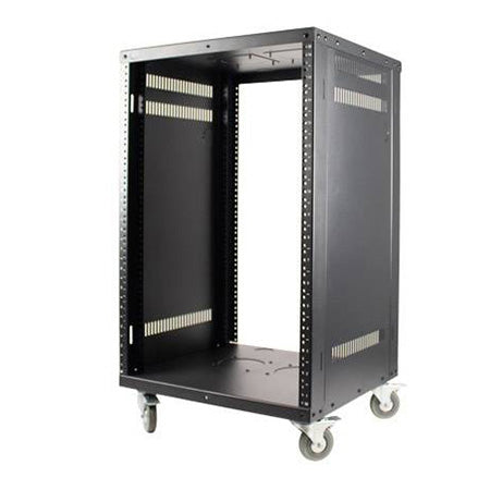 Royal Racks 12U Metal Rack on Casters - Black