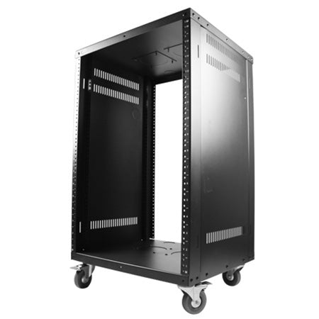 Royal Racks 16U Metal Rack on Casters - Black