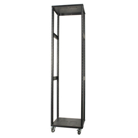 Royal Racks 42U Metal Skeleton Rack - Black