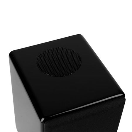 "Saga Luxury Edition ""The Pawns"" Two-Way Bookshelf Speaker with 10-cm (4-in) Woofer - Single - Gloss Black"