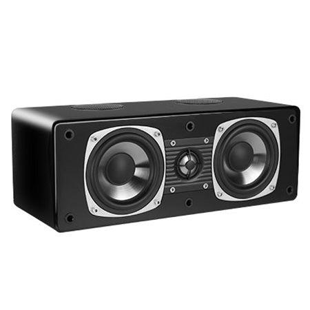 "Saga Luxury Edition ""The Pawns"" Two-Way Center Channel Speaker with Dual 10-cm (4-in) Woofers - Single - Gloss Black"