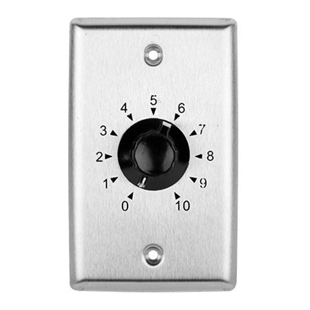 Saga Elite Single Gang 35-watt 25/70.7-volt Volume Control - Stainless Steel