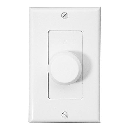Saga Elite Single Gang Decora Style 100-watt Impedance Matching Rotary Volume Control with White, Almond, & Ivory Plates