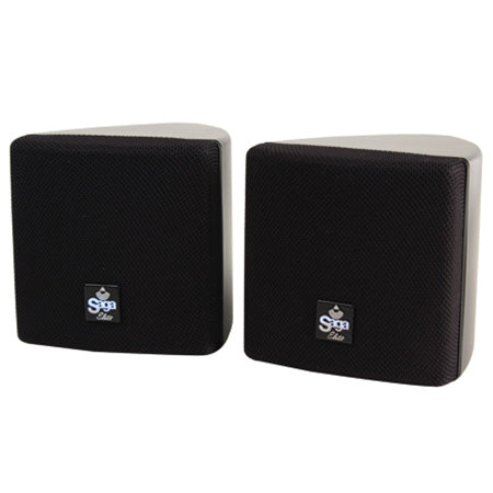 Saga Elite 7.6-cm (3-in) 8-ohm Surround Speaker with 360-degree Swivel Mounting Bracket - Pair - Black